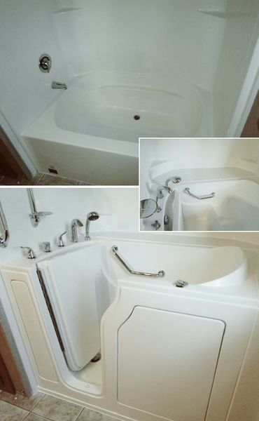 Shower/Tub Combo Converted to Walk In Tub in Lyles, TN (1)
